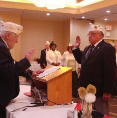 Mike Fries taking oath