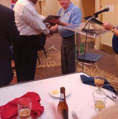 Nate receiving past commander award